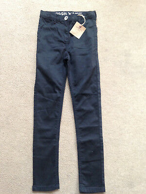 BNWT NEXT Girls Black High Waist Skinny Jeans Age 9 Years