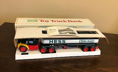 1984 Hess Toy Tanker Truck Bank NIB New In Original Box