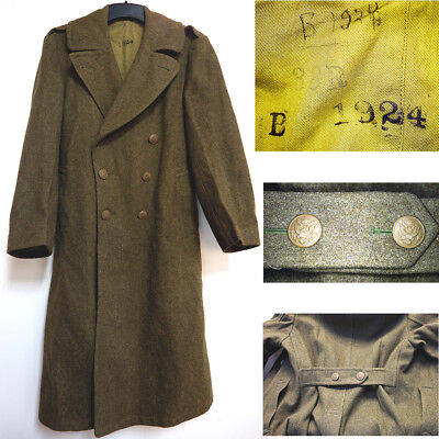 Original WWII US Army Air Corp - Wool Field Overcoat 38-R