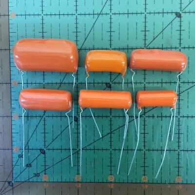 SPRAGUE ORANGE DROP CAPACITOR 0.5uF 200v 2PS-P50 .5uF AUDIO 220P .47uF Free Ship