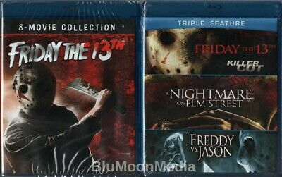 Friday the 13th BLU-RAY Lot Ultimate 10 Movie Collection + Nightmare Elm NEW
