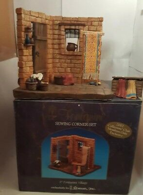 Fontanini SEWING CORNER SET 2002 Collector's Club Members Only Exclusive