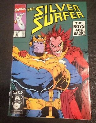 Silver Surfer #45 Infinity Gauntlet Thanos NM 9.4 Marvel 1991