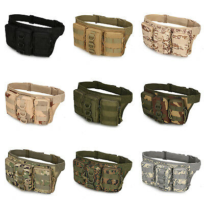 Unisex Camouflage Military Hiking Packsack Sports Waist Bag Camping Travel