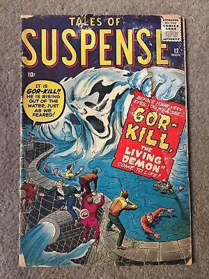 Tales Of Suspense 12 Good / Very Good  Condition Jack Kirby Marvel Free Shipping