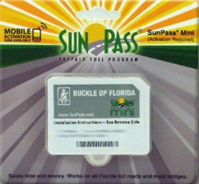 SunPass Mini Transponder  - PrePaid Toll Program For Florida - NEW
