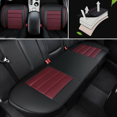 4X PU Leather Car Floor Mat For 5 seats car 3PCS Full Seat Covers PU leather