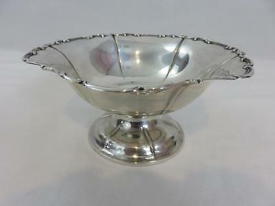 """Antique German Bruckmann & Sohne 800 Silver Footed Dish Compote Bowl 7"""""""