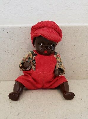 Vintage Early Black Baby Doll Jointed