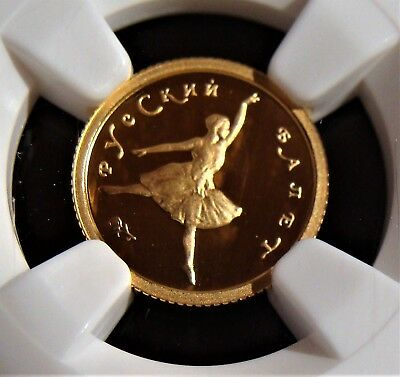 Russia: Gold  1993 10 Roubles  NGC PR69 Ultra Cameo, KM-Y416.