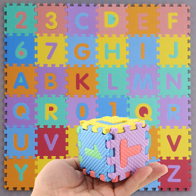 EED9 D5A9 Kids S Sizei Foam Alphabet Letters Numbers Educational Soft Mat Puzzle