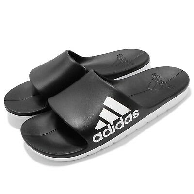 2a2cece4dad adidas Aqualette Cloudfoam Black White Men Sports Sandal Slippers Slides  CM7928