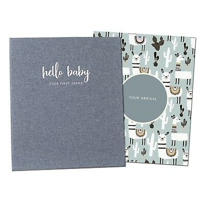 Unisex Baby Memory Book - Photo Keepsake to Record Milestones & Firsts