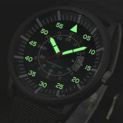 Uomo Militare in Acciaio Inox Luminoso Quadrante Display con Data Sport Polso