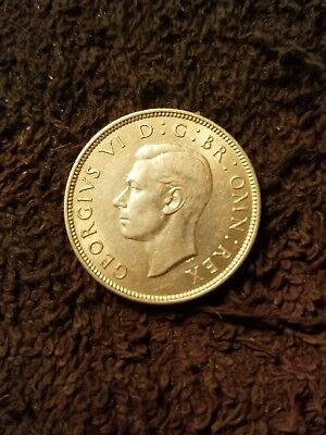 1943 Great Britain 2 Shillings (Florin) King George VI Silver UNC KM# 855