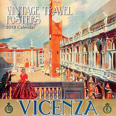 Vintage Travel Posters 2019 Wall Calendar Gifted Stationery Free Post