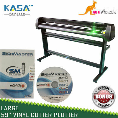 "Large 59"" Vinyl Cutter Plotter New Sign Cutting Pro Optical Eye Laser Pointer"
