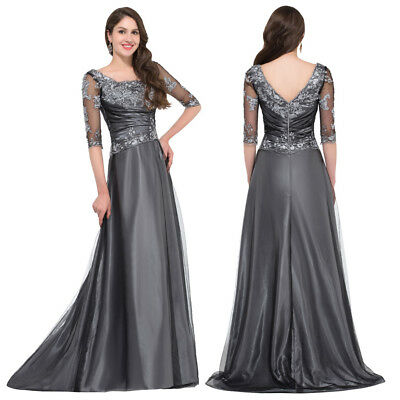 Ball Evening Dress Prom Banquet Formal Party Wedding Lace Mother Of Long Gown