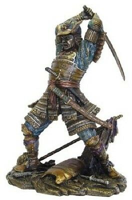 9.5 Inch Samurai in Combat w/ Sword Collectible Statue Figurine Figure Japanese