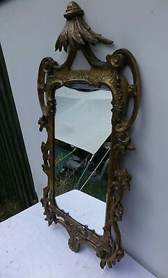 Antique Large Gilded Wall Mirror .94cm High x 48cm wide. Lovely mirror.