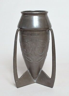 Antique Archibald Knox For Liberty, Tudric Pewter Arts & Crafts Vase