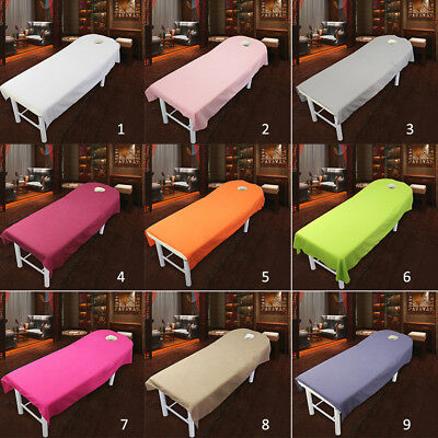 1*Quality Beauty Massage SPA Treatment Bed Table Cover Sheets + Face Breath Hole