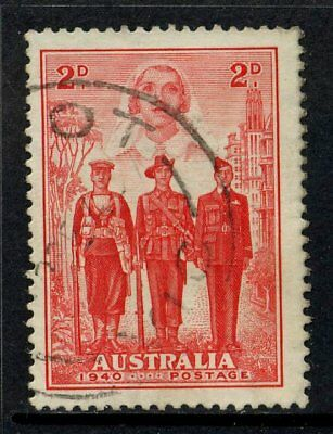 1940 Australian Imperial Forces 2d Red FU SG 197 FCA