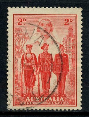 1940 Australian Imperial Forces 2d Red FU SG 197 294