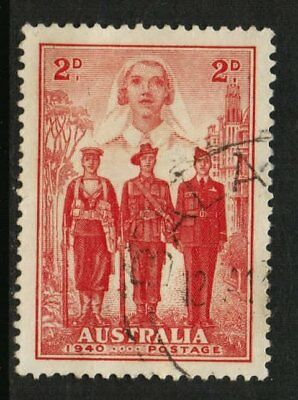 1940 Australian Imperial Forces 2d Red VFU SG 197 FC5