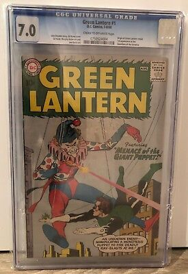 Green Lantern #1 - Cgc 7.0 - 1St Guardians Of The Universe - Crm/ow Pages