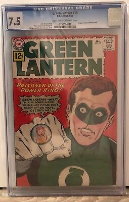 Green Lantern #10 - Cgc 7.5 - Origin Of Gl'S Oath