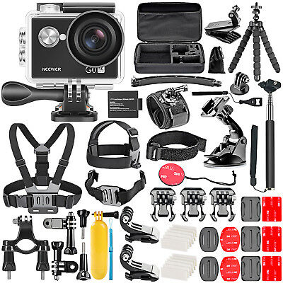 Neewer G0 HD 4K Action Camera 12MP, 98 ft Waterproof Camera with Accessory Kit