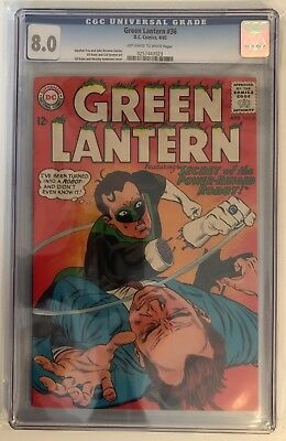 Green Lantern #36 - Cgc 8.0 - Off White To White Pages