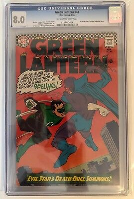 Green Lantern #44 - Cgc 8.0 - Off White/white Pages