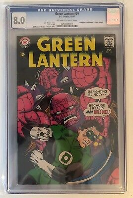 Green Lantern #56 - Cgc 8.0 - Charley Vicker Becomes A Gl - Ow/w Pages