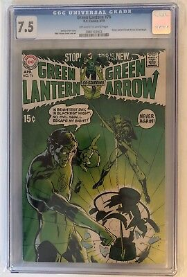Green Lantern #76 - Cgc 7.5 - First Adams/o'Neil Gl/ga - Off White/white Pages