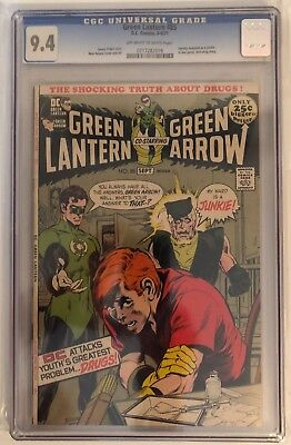 Green Lantern #85 - Cgc 9.4 - Famous Anti-Drugs Story - Off White/white Pages