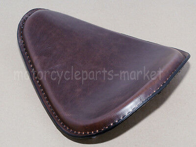 "Leather Retro Motorcycle 3"" Solo Drive Seat For Harley Chopper Bobber Brown"