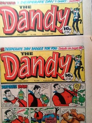The Dandy Comic (2 copies from 1986)