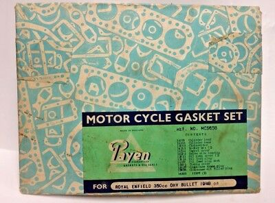 Motor Cycle Gasket Set Royal Enfield 350 Ohv Bullet 1949  Not A Complete Set