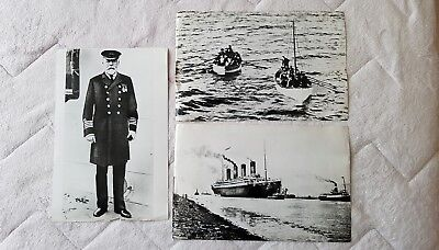 3 large Genuine glossy photographs of White Star Line Titanic / Olympic interest