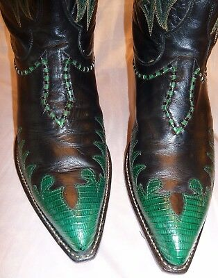 Rare Collectible TONY LAMA Lizard FIRE WALKER Cowboy Cowgirl Western Boots - 8EE
