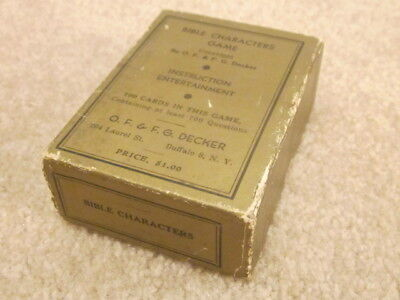 Antique Early 20th Century BIBLE CHARACTERS GAME by OF & FG Decker Buffalo, NY