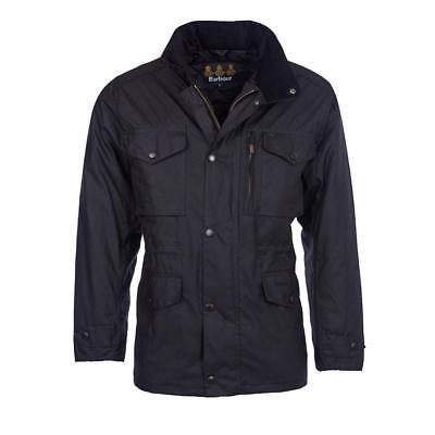 Barbour Men's Sapper Wax Jacket Black Size Small Rrp £229 Bnwt