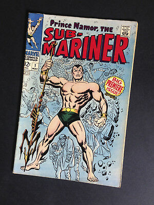 Marvel Comics Sub Mariner #1 – 1968 Big Premiere Issue – Silver Age