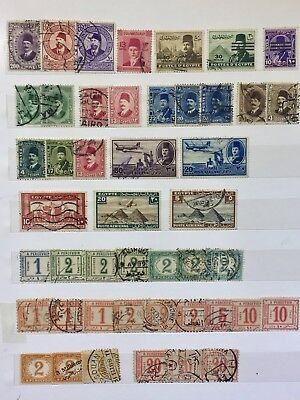Rare Egypt Stamps Mid 1800s Early 1900s Lot1