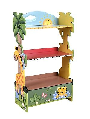 FANTASY FIELDS HAND Painted Sunny Safari Bookshelf Kids Decorative