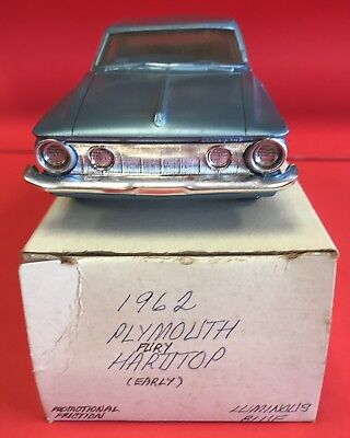 1962 Plymouth Fury Hardtop (Early) Jo-Han Promo Friction Blue See Pics Nice!