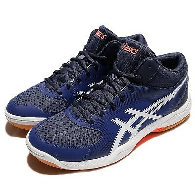 Asics Gel-Task MT Mid Top Blue Black Gum Men Volleyball Badminton  TVR717-4901 b45c47cc15c1
