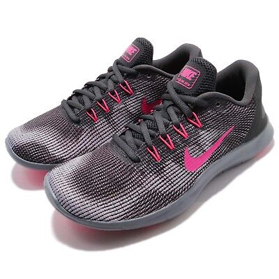 ac0f16e4e7 Nike Wmns Flex 2018 RN Run Anthracite Pink Women Running Shoe Sneaker  AA7408-006